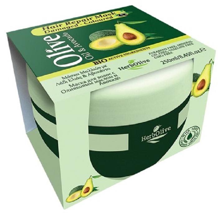 HerbOlive Маска для сухих волос восстанавливающая с маслом оливы и авокадо 250 мл5200310404320Маска идеально подходит для сухих и обезвоженных волос, ухаживает за волосами обогащая их питательными веществами. Входящий в состав авокадо способствует укреплению волос, предотвращает их выпадение. Придает блеск тусклым волосам. Укрепляет корни, восстанавливает поврежденные и безжизненные волосы. Глубоко проникает в структуру, удерживая влагу в клетках.Натуральное оливковое масло способствует росту волос, увлажняет, делает объемными и эластичными. Подходит для частого использования. Косметика произведена в Греции на основе органического сырья, НЕ СОДЕРЖИТ минеральные масла, вазелин, пропиленгликоль, парабены, генетически модифицированные продукты (ГМО)