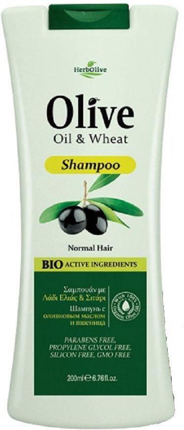 HerbOlive Шампунь для нормальных волос с пшеницей 200 мл