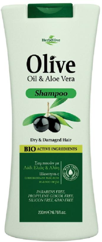HerbOlive Шампунь для сухих волос с алоэ-вера 200 мл