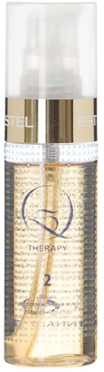 Estel Масло для поврежденных волос Q3 THERAPY 100 млQ3T/MМасло Q3 Therapy – это второй шаг в процедуре экранирования Q3 Therapy от российского бренда Estel Professional. Средство представляет собой богатейшую палитру натуральных масел, обладающих восстанавливающим, защитным, увлажняющим и укрепляющим действием. В состав Q3 Therapy входит масло авокадо – один из сильнейших природных антиоксидантов. Благодаря высокому содержанию витамина Е это масло останавливает окисление свободных радикалов, полностью прекращает сечение и ломкость кончиков. Масло камелии окутывает каждый волосок тончайшим слоем, придающим прядям шелковистость, сияние и потрясающий вид. Надежно уберегает от UV-излучения и температурных нагрузок. Масло виноградных косточек глубоко проникает в структуру ослабленных локонов и разглаживает ее изнутри, обладает прекрасными увлажняющими и укрепляющими способностями. Масло грецкого ореха уплотняет пористые локоны, придает им упругость и эластичность. Масло ореха макадамии обеспечивает удивительный блеск и полноценную защиту от солнечной инсоляции. Результат: Обеспечивает интенсивное питание Увеличивает плотность волоса Восстанавливает поврежденную структуру.