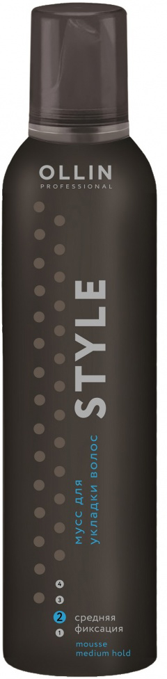 Ollin Мусс для укладки волос средней фиксации Style Mousse 250 мл мусс для укладки волос volume cosmia 250 мл