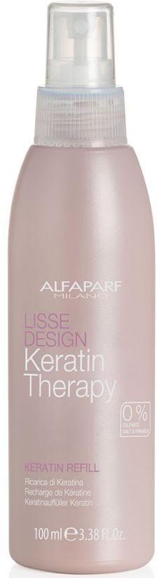Alfaparf Кератин-наполнитель Lisse Design Keratin Refill 100 мл124557/7175Alfaparf Lisse Design Keratin Refill Кератин-наполнитель позволит быстро и эффективно придать волосам красивое сияние, непревзойдённую послушность и шелковистость. Средства, которые содержит формула кератина-наполнителя Альфапарф коллаген и кератин делают волосы гладкими и мягкими, а также прекрасно насыщают структуру волос, обеспечивают их укрепление и защиту от негативного воздействия окружающей среды.Применение кератина-наполнителя Alfaparf Lisse Design Keratin не требует каких-либо специальных навыков, поэтому его можно применять в любом месте и в любое время или просто дома, после дополнительного ухода кератином. Достаточно просто нанести спрей на чистые влажные волосы, после чего результат будет заметен сразу и вам и окружающим.