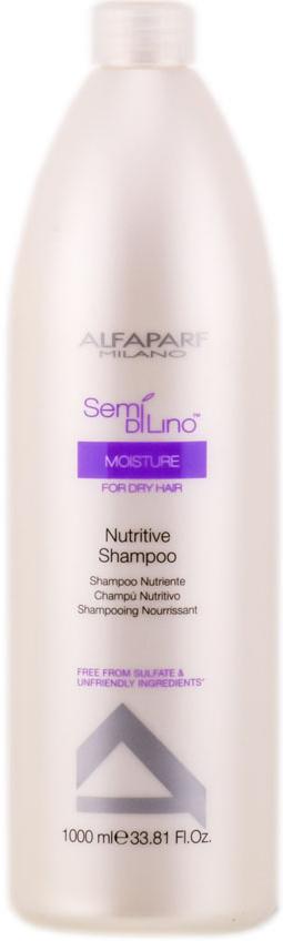 Alfaparf Шампунь для сухих волос Semi Di Lino Moisture Nutritive Shampoo 1000 мл10006Alfaparf Semi DiLino Moisture Nutritive Shampoo Шампунь для сухих волос прекрасно увлажняет волосы по всей длине, а также сохраняет интенсивность цвета волос и мягко очищает их. Экстракт мёда, входящий в состав шампуня Альфапарф Semi Di Lino Moisture Nutritive способствует сохранению влаги внутри волоса, а экстракт льна, обогащённый жирными кислотами Омега 3 и Омега 6 эффективно придаёт волосам красивый блеск, при этом разглаживая их. В состав шампуня Alfaparf также входят такие компоненты, как экстракт овса, который стабилизирует липидные цепочки, благодаря которому волосы становятся защищёнными от обезвоживания. Производные кашемира стабилизируют протеиновый баланс волос, поэтому волосы приобретают естественный и яркий цвет.