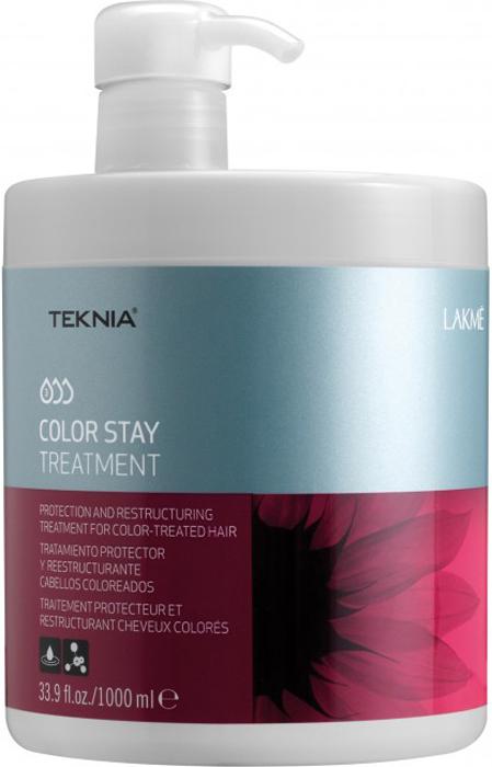 Lakme Средство, сохраняющее цвет и восстанавливающее структуру окрашенных волос Treatment, 1000 мл47531Восстанавливает цвет окрашенных волос. Реструктурирует волосы, поврежденные в процессе осветления или окрашивания. Средство, сохраняющее цвет и восстанавливающее структуру окрашенных волос Lakme Teknia Color Stay Treatment содержит WAA™ – комплекс растительных аминокислот, ухаживающий за волосами и оказывающий глубокое воздействие изнутри. Выравнивает структуру окрашенных и осветленных волос, проявляет цвет.