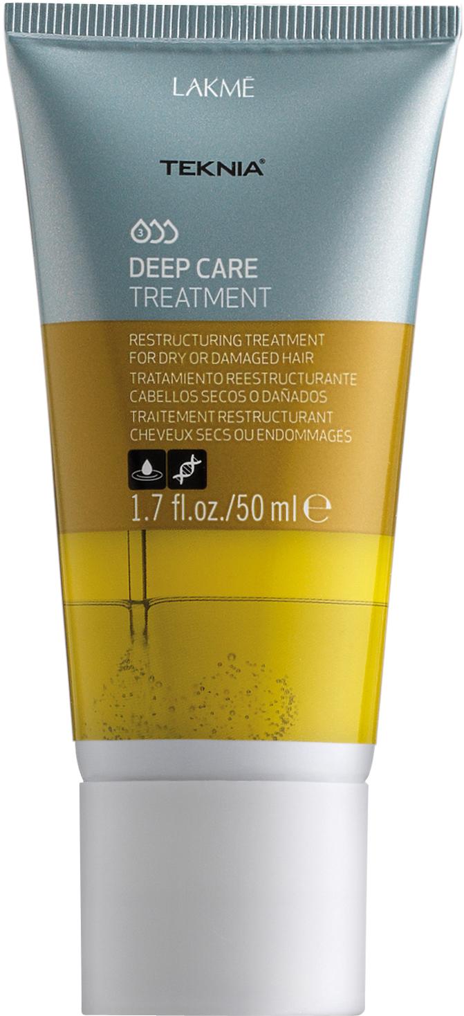 Lakme Интенсивное восстанавливающее средство для сухих или поврежденных волос Treatment, 50 мл47733Абиссинское масло глубоко питает, укрепляет и далет волосы шелковистыми и невероятно легкими. Придает бриллиантовый блеск. Керамиды укрепляют и восстанавливают поврежденные участки волос, сохраняя их натуральные свойства. Облегчает укладку волос. Интенсивное восстанавливающее средство для сухих или поврежденных волос Lakme Teknia Deep Care Treatment содержит WAA™ – комплекс растительных аминокислот, ухаживающий за волосами и оказывающий глубокое воздействие изнутри.