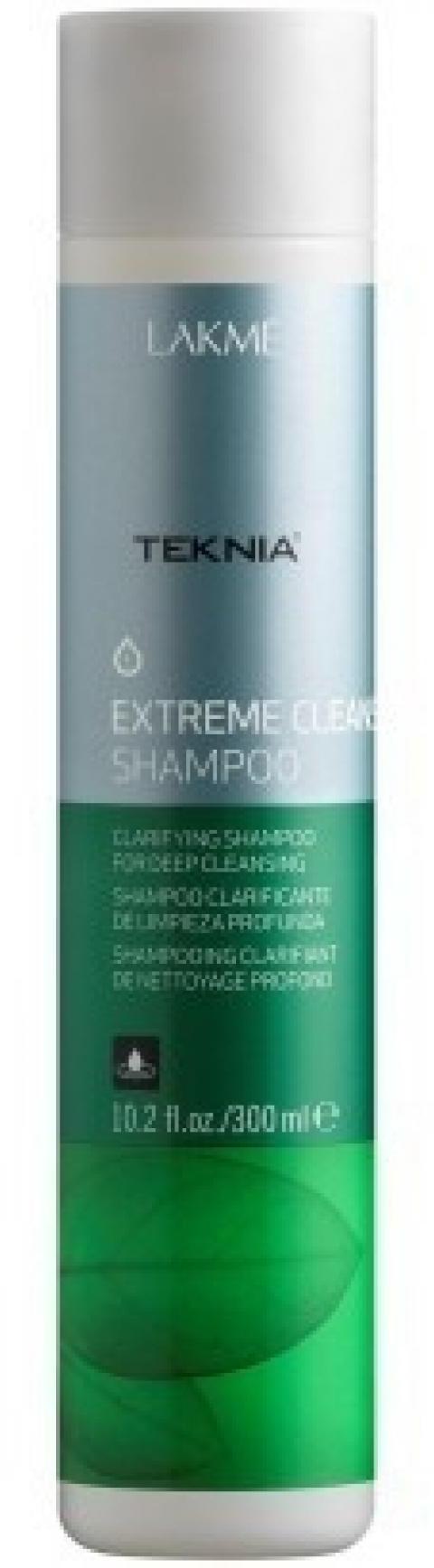 Lakme Шампунь для глубокого очищения Shampoo, 100 мл47313Обогащенный фруктовыми кислотами и экстрактом зеленого чая, он придает волосам естественный блеск и мягкость. Вытяжка из плодов индийского каштана оказывает вяжущее, антисептическое действие и обеспечивает глубокое очищение , как волос, так и кожи головы. Мягкая формула эффективно удаляет остатки укладочных средств и запахи, не вызывает раздражения. Входящий в состав ментол, мгновенно дает ощущение свежести.Шампунь для глубокого очищения Lakme Teknia Extreme Cleanse Shampoo содержит WAA™ – комплекс растительных аминокислот, ухаживающий за волосами и оказывающий глубокое воздействие изнутри. Идеально подходит для очень жирных волос.