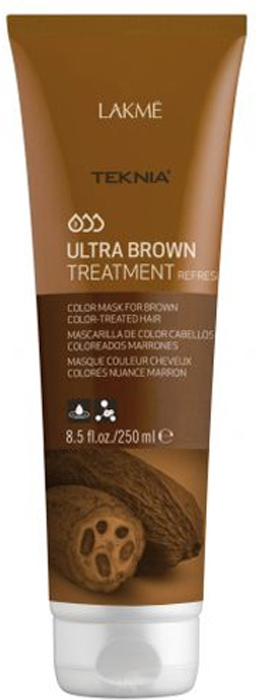 Lakme Средство для поддержания оттенка окрашенных волос Коричневый Treatment, 250 мл47052Благодаря входящим в состав экстракту какао и керамидному комплексу средство восстанавливает волокно волоса изнутри и защищает волосы , окрашенные в коричневые оттенки, от потери цвета, насыщает их блеском и продлевает интенсивность оттенков. Масло кокоса очищает и смягчает волосы, защищает кутикулы от химического воздействия. Витамин А и масло монои таитянской защищают волосы от внешнего воздействия, увлажняют и восстанавливают все типы волос, делая их блестящими и шелковистыми. Средство для поддержания оттенка окрашенных волос «Коричневый» Lakme Teknia Ultra Brown Treatment содержит WAA™ – комплекс растительных аминокислот, ухаживающий за волосами и оказывающий глубокое воздействие изнутри.