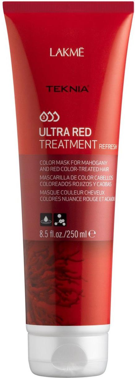 Lakme Средство для поддержания оттенка окрашенных волос Красный Treatment, 250 мл47062Благодаря экстракту кораллины, входящему в состав, средство восстанавливает и защищает волосы, окрашенные в махагоновые и красные оттенки, насыщает их блеском и продлевает интенсивность цвета. Средство для поддержания оттенка окрашенных волос «Красный» Lakme Teknia Ultra Red Treatment содержит WAA комплекс растительных аминокислот, ухаживающий за волосами и оказывающий глубокое воздействие изнутри.