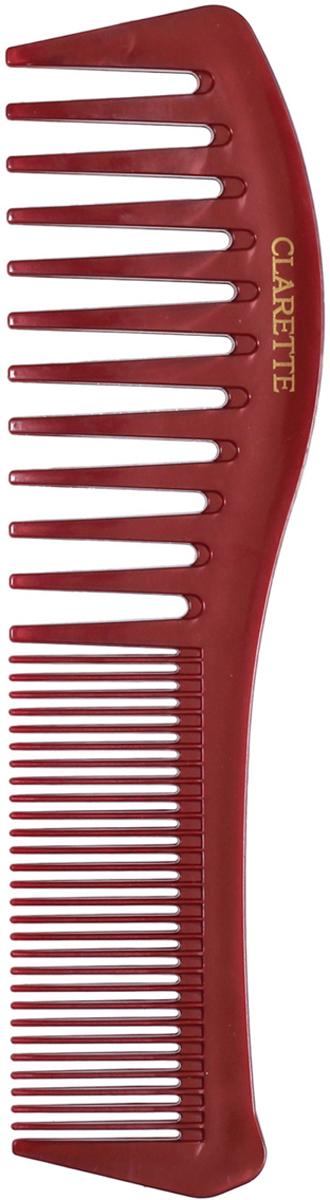 Clarette Расческа для волос комбинированная, цвет: коричневый