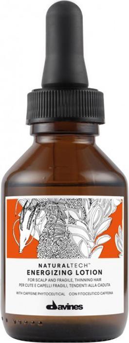 Davines Энергетический лосьон против выпадения волос New Natural Tech Energizing Lotion, 100 мл71149Энергетический Лосьон ухаживает за хрупкими, склонными к выпадению волосами, а также за ослабленной кожей головы. Лосьон стимулирует микроциркуляцию крови в коже головы и способствует профилактике сезонного выпадения волос.Замедление процесса выпадения волос происходит посредством эффективного влияния компонентов лосьона на метаболизм клеток кожи головы. За это отвечает содержащийся в лосьоне фитоактив кофеина, действие которого усиливают сиртуины белки долголетия и полисахарид бета-глюкан, оказывающий омолаживающее действие на кожу головы. Эфирные масла имбиря, черного перца и корицы дают клеткам коже головы жизненную силу. Лосьон действует как легкий стайлинг, мягко фиксируя волосы. рH 5,5.