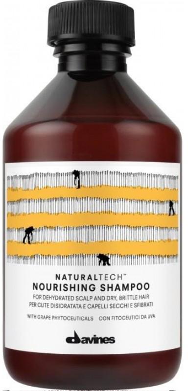 Davines Питательный шампунь New Natural Tech Nourishing Shampoo, 250 мл71152Питательный шампунь предназначен для очень сухой кожи головы и ломких хрупких волос. Благодаря кремообразной текстуре получается густая пена, которую удобно наносить. Смесь из поверхностно-активных веществ легко очищает волосы. В шампуне также содержится богатый полифенолами фитоактив винограда, очень мощный антиоксидант. Эфирные масла мандарина, горького апельсина и иланг-иланга хорошо укрепляют волосы. рН 5,5.