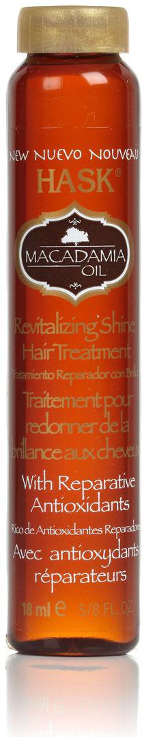 HASK Масло для увлажнения волос с экстрактом Макадамии, 18 мл32376AЭто легкое масло без содержания спирта мгновенно впитывается и наполняет волосы сиянием, не оставляя жирного блеска. Обогащено витамином Е, Омега-7 и антиоксидантами. Масло макадамии глубоко проникает в кутикулу волоса, делает даже самые поврежденные волосы мягкими и невероятно блестящими.