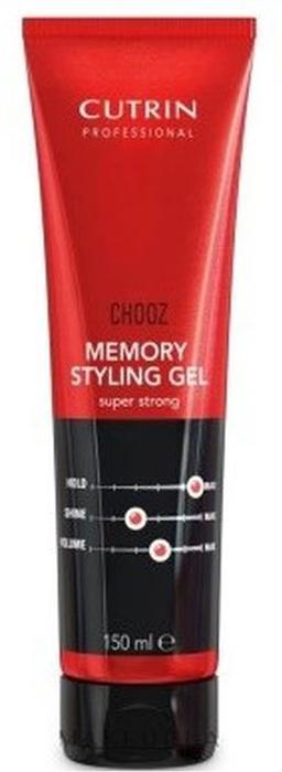 Cutrin Chooz Perms Стайлинговый гель экстра-сильной фиксации с эффектом памяти, 150 мл cutrin chooz hair spray max control formula лак экстра сильной фиксации 300 мл