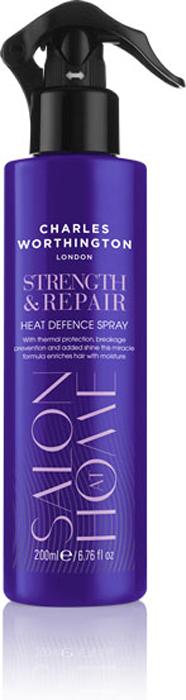 Charles Worthington Спрей для волос Укрепление и восстановление с термозащитой, 200 мл.R5201Спрей с термо-защитой дает полную уверенность, что Ваши волосы под защитой каждый раз, когда Вы используете выпрямитель или фен. Его термо-защитная формула сохраняет влагу и блеск волос даже в то время, когда волосы подвержены воздействию высоких температур (защита до 230 ° С).