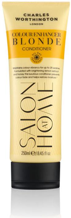 Charles Worthington Кондиционер для поддержания цвета окрашенных волос Яркий блонд, 250 мл.R5220Кондиционер, обогащенный лимоном, медом и ромашкой, очищает волосы и насыщает их цветом, придавая блеск и сияние. UV-фильтр и технология защиты цвета сохраняют волосы сияющими и шелковистыми. Благодаря специальной технологии FragranceLock ™, шампунь придает волосам стойкий приятный аромат, которым Вы будете наслаждаться в течение всего дня