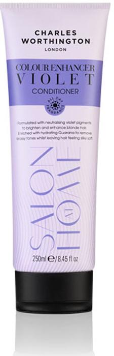 Charles Worthington Кондиционер для защиты цвета светлых волос Фиолетовое тонирование, 250 мл.R5226Этот фиолетовый кондиционер, обогащенный увлажняющим экстрактом гуараны, удаляет нежелательные оттенки, делая волосы гладкими и шелковистыми. Светлые волосы выглядят более яркими. Благодаря специальной технологии FragranceLock ™, шампунь придает волосам стойкий приятный аромат, которым Вы будете наслаждаться в течение всего дня
