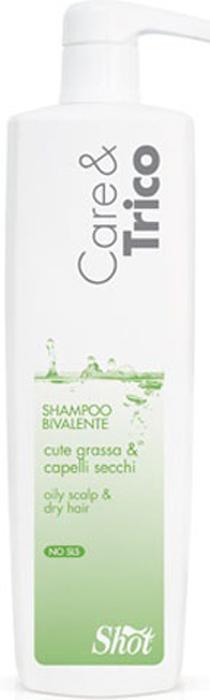 Shot Care and Trico Bivalent Shampoo - Шампунь двойного действия для жирной кожи головы и сухих волос 250 мл shot shot standart синий узор