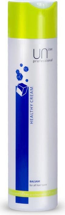 Uni.tec Кондиционирующий бальзам для всех типов волос Healthy Cream, 250 млU0010Действие активных компонентов кондиционирует и питает волосы, придавая им эластичность, мягкость и блеск. Повышает защитные уровни и индекс увлажненности, препятствуя дегидратации, облегчает расчесывание, оказывает антистатическое действие. Применение: равномерно распределите на влажные, вымытые шампунем волосы по всей длине, оставьте действовать на 3-5 минут, обильно смойте теплой водой.