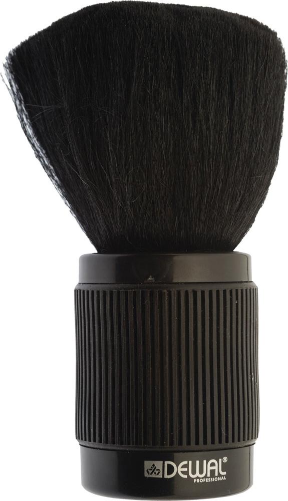 Dewal Кисть-сметка, настольная, с прорезиненной ручкой, натуральная овечья щетина, цвет: черный фартук мастера dewal для стрижки и окрашивания нейлон черный со спинкой короткий 45х82см