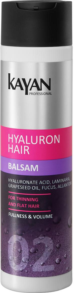 KAYAN Professional Бальзам HYALURON HAIR, для тонких и лишенных объема волос, 250 мл5906660407072придает волосам объем, гладкость и блеск. Облегчает расчесывание и укладку. Активные компоненты увлажняют, питают и укрепляют волосы по всей длине, повышают эластичность. Активные компоненты: гиалуроновая кислота, фукус, коньяк маннан, ламинария, аллантоинпридает волосам заметный объем и ровное сияниеобеспечивает гладкость и эластичность волособлегчает расчесывание и укладкупридает волосам блеск и сияниене утяжеляет волосы