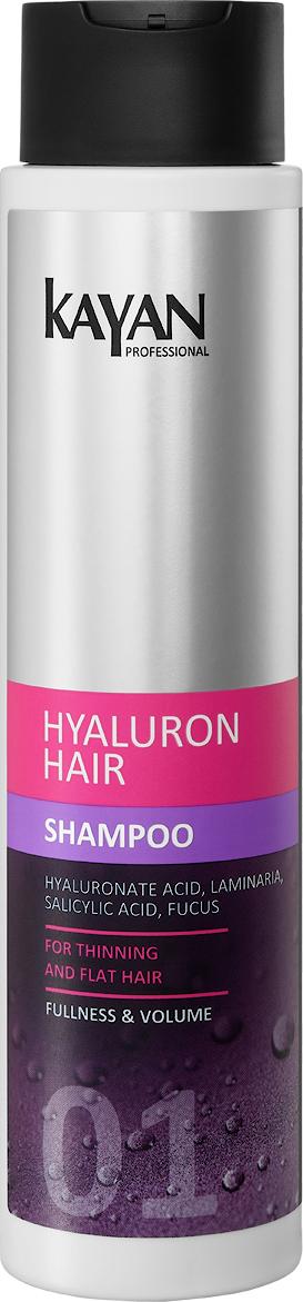 KAYAN Professional Шампунь HYALURON HAIR, для тонких и лишенных объема волос, 400 мл5906660407065обеспечивает деликатное очищение волос. Нормализует pH, предупреждает появление перхоти. Салициловая кислота очищает кожу головы и приподнимает корни волос, заметно увеличивая их объем. Компоненты шампуня интенсивно увлажняют, усиливают плотность волосяного стержня, защищают от сухости. Активные компоненты: гиалуроновая кислота, фукус, коньяк маннан, ламинария, аллантоиночищает волосы и кожу головынормализует pH, предупреждает появление перхотиподнимает корни волос, заметно увеличивая объемструктура волос становится плотнойболее упругой и эластичнойзащищает от сухости и ломкости