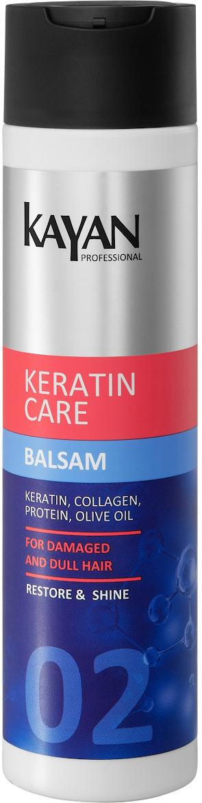 KAYAN Professional Бальзам KERATIN CARE, для поврежденных и тусклых волос, 250 мл5906660407010реставрация, роскошь и блеск ваших волос. Бальзам обеспечивает легкое расчесывание, придает гладкость и блеск, облегчает укладку. Не утяжеляет волосы. Масла кокоса и сладкого миндаля интенсивно увлажняют и смягчают верхние слои волос, придают шелковистость. Активные компоненты бальзама защищают от посеченности и ломкости. Активные компоненты: кератин, морской коллаген, протеины пшеницы и молока, масло Ши и сладкого миндаляинтенсивно увлажняет и смягчает волосызащищает от посеченности и ломкостипридает гладкость и блескобеспечивает легкое расчесывание и облегчает укладку
