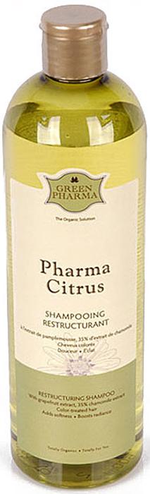 Шампунь Greenpharma Pharma Citrus для окрашенных волос, с экстрактом грейпфрута, 500 мл7337Шампунь Greenpharma Pharma Citrus для окрашенных волос с экстрактом грейпфрута.Окрашивание и химическая завивка делают волосы хрупкими и сухими. Поэтому очень важно применять кислые шампуни, которые уравновешивают нарушенный в результате химического воздействия рН. Шампунь заметно улучшает внешний вид волос сразу после химического окрашивания. Естественнокислый экстракт грейпфрута позволяет удалить щелочные остатки после окрашивания и химической завивки, разгладить рельеф каждого волоса и обеспечить волосам естественный блеск. Протеины сладкого миндаля делают волосы мягкими и шелковистыми.Способ применения: нанести на влажные волосы, вспенить, смыть. Нанести шампунь второй раз на 1-2 минуты, смыть большим количеством воды.Компания GreenPharma S.A.S. - лидер инновационных разработок в области косметологии. Вы хотите вдохнуть жизнь в ослабленные, проблемные волосы и сделать их сильными, пышными и блестящими? Это сделать легко, используя силу натуральных эфирных масел и экстрактов растений. Широкий спектр продуктов по уходу за волосами компании GreenPharma позволяет решить практически любую проблему волос и кожи головы: от чрезмерного выпадения волос до сохранения цвета окрашенных волос. Высокая концентрация натуральных эфирных масел способствует эффективному очищению кожи головы, стимулирует микроциркуляцию крови, останавливает выпадение волос, регулирует себоотделение, что, в свою очередь, укрепляет и оздоравливает волосы. Нет плохих волос, а есть волосы, за которыми плохо ухаживают, красивые волосы начинаются со здоровой кожи головы. Линия ухода за волосами GreenPharma решает практически все проблемы волос и кожи головы и предназначена для разных типов волос: сухих, окрашенных, поврежденных, лишенных объема, седых, при сухой, жирной коже головы, чрезмерном увеличении количества выпавших волос. Характеристики: Объем: 500 мл. Изготовитель: Франция. Производитель: Россия. Товар с