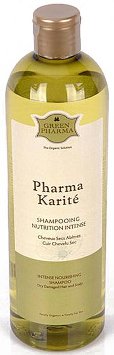 Шампунь Greenpharma Pharma Karite интенсивный, питательный, для очень сухих волос и кожи головы, 500 мл spa pharma минеральный шампунь для сухих и поврежденных волос spa pharma 500 мл