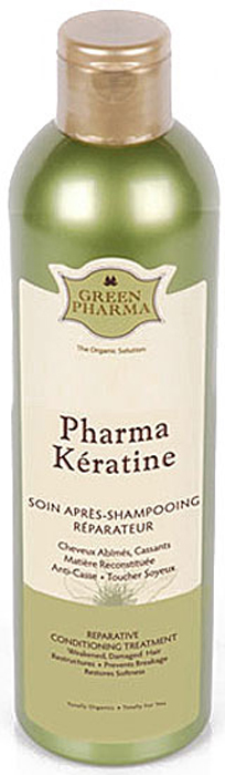 Кондиционер-ополаскиватель Greenpharma Pharma Keratine восстанавливающий, с растительным кератином и церамидами, для поврежденных и ослабленных волос, 300 мл7320Кондиционер-ополаскиватель Greenpharma Pharma Keratine восстанавливающий,с растительным кератином и церамидами для поврежденных и ослабленных волос. Кератин возвращает волосам силу и блеск, гиалуроновая кислота увлажняет волосы, а растительные церамиды закрывают чешуйки волоса и обеспечивают гладкость. Экстракт граната, природный антиоксидант, защищает волосы от неблагоприятных внешних воздействий. Восстанавливающий кондиционер-ополаскиватель облегчает расчесывание волос, не утяжеляя их.Способ применения: нанести на влажные волосы, оставить на одну минуту, тщательно смыть. Компания GreenPharma S.A.S. - лидер инновационных разработок в области косметологии. Вы хотите вдохнуть жизнь в ослабленные, проблемные волосы и сделать их сильными, пышными и блестящими? Это сделать легко, используя силу натуральных эфирных масел и экстрактов растений. Широкий спектр продуктов по уходу за волосами компании GreenPharma позволяет решить практически любую проблему волос и кожи головы: от чрезмерного выпадения волос до сохранения цвета окрашенных волос. Высокая концентрация натуральных эфирных масел способствует эффективному очищению кожи головы, стимулирует микроциркуляцию крови, останавливает выпадение волос, регулирует себоотделение, что, в свою очередь, укрепляет и оздоравливает волосы. Нет плохих волос, а есть волосы, за которыми плохо ухаживают, красивые волосы начинаются со здоровой кожи головы. Линия ухода за волосами GreenPharma решает практически все проблемы волос и кожи головы и предназначена для разных типов волос: сухих, окрашенных, поврежденных, лишенных объема, седых, при сухой, жирной коже головы, чрезмерном увеличении количества выпавших волос. Характеристики: Объем: 300 мл. Изготовитель: Франция. Производитель: Россия. Товар сертифицирован.