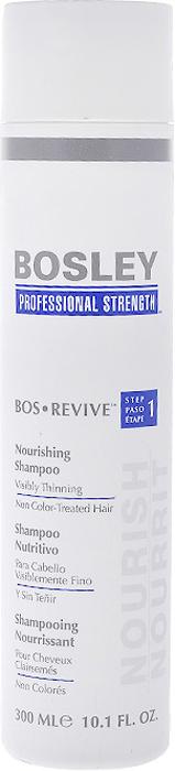 Bosley Шампунь питательный, для истонченных и неокрашенных волос, 300 мл65421675/8889536Нежный шампунь Bosley не содержит сульфаты. Питательный шампунь, который помогает создать здоровую среду дляволос и кожи головы. Комплекс LifeXtend, содержащий пальмовый экстракт и пентапептиды, уплотняет и утолщает волосы. Соевые аминокислоты помогают восстановить силу, толщину и объем. Растительные белки помогают укрепить волосы. Экстракт водорослей помогает защитить волосы от фотостарения, повреждений во время частого мытья и расчесывания. Характеристики:Объем: 300 мл. Производитель: США. Товар сертифицирован.