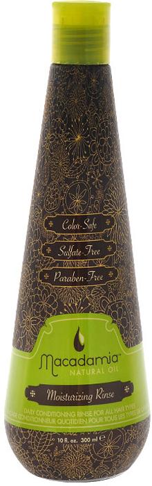 Macadamia Natural Oil Кондиционер для волос, увлажняющий, на основе масла макадамии, 300 млZ0405Кондиционер Macadamia Natural Oil нежно питает, увлажняет и защищает волосы делая их мягкими и шелковистыми. Подходит для ежедневного применения и любого типа волос. Товар сертифицирован.