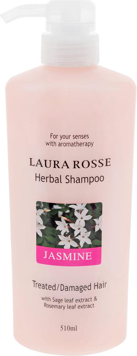 Laura Rosse Растительный шампунь Жасмин, для сухих и ослабленных волос, 510 мл295684Душистый растительный шампунь прекрасно очищает волосы, насыщает их влагой, делает мягкими и послушными. Богатый состав средства, включающий растительные и питательные компоненты, поможет восстановить естественную жизненную силу ваших волос.Шампунь содержит экстракты ромашки, розмарина, шалфея, лаванды, а также гидролизированный шелк, который увлажняет, укрепляет и защищает волосы.Подходит для всех типов волос, особенно для сухих, поврежденных и ослабленных после окрашивания.Обладает приятным ароматом жасмина. Характеристики:Объем: 510 мл. Артикул: 295684. Производитель: Корея. Товар сертифицирован.