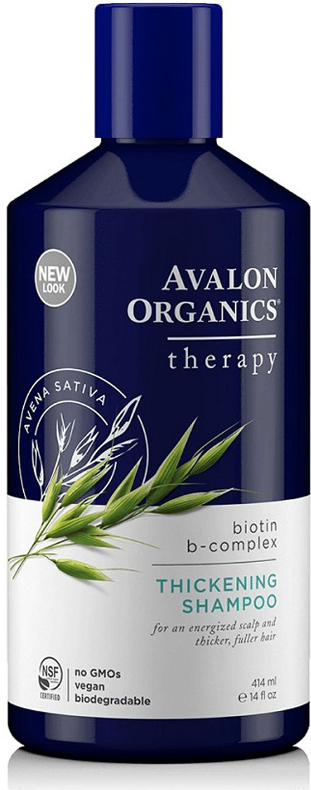 Avalon Organics Шампунь Биотин, 414 мл avalon organics avalon organics лосьон для рук и тела с маслом лимона косметика для кожи тела lemon lotion av35205 360 мл