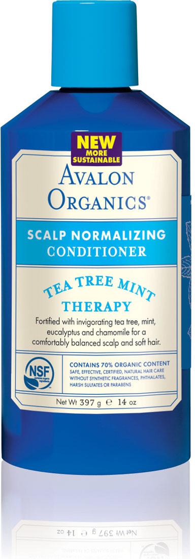 Avalon Organics Нормализующий кондиционер для волос Чайное дерево и мятя, 400 мл лосьон avalon organics lavender hand