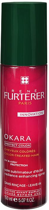 Rene Furterer Лосьон Okara для защиты цвета волос, двухфазный, 150 мл3282779285520Это несмываемое средство, которое ухаживает за волосами на протяжении всего дня. Гарантирует эффективную защиту цвета окрашенных волос. Придает волосам ослепительный блеск, мгновенно облегчает расчесывание. Восстанавливает волосы, придает им мягкость, блеск, шелковистость и эластичность. Обеспечивает эффективную защиту волос от ультрафиолета. Удобная упаковка - флакон со спреем.Перед использованием встряхнуть флакон для смешивания двух фаз средства. Распылить на сухие или влажные волосы. Распределить расческой. Не смывать! Подходит для ежедневного использования.