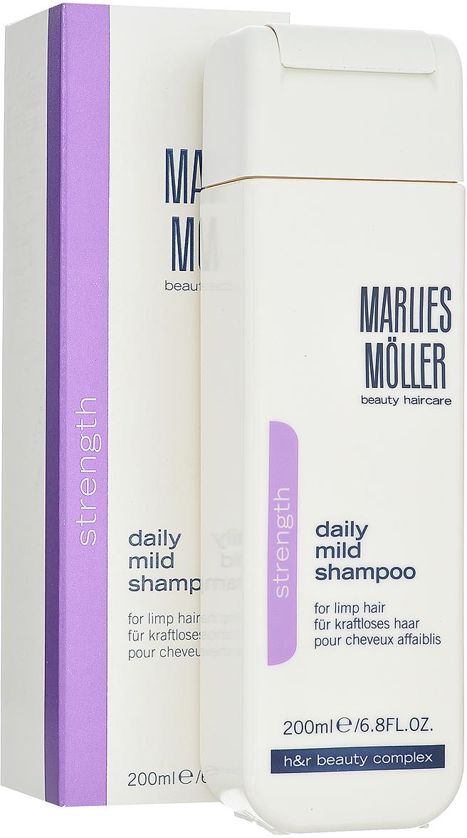 Marlies Moller Мягкий шампунь Strength, для ежедневного применения, 200 мл шампуни marlies moller шампунь против перхоти 200 мл