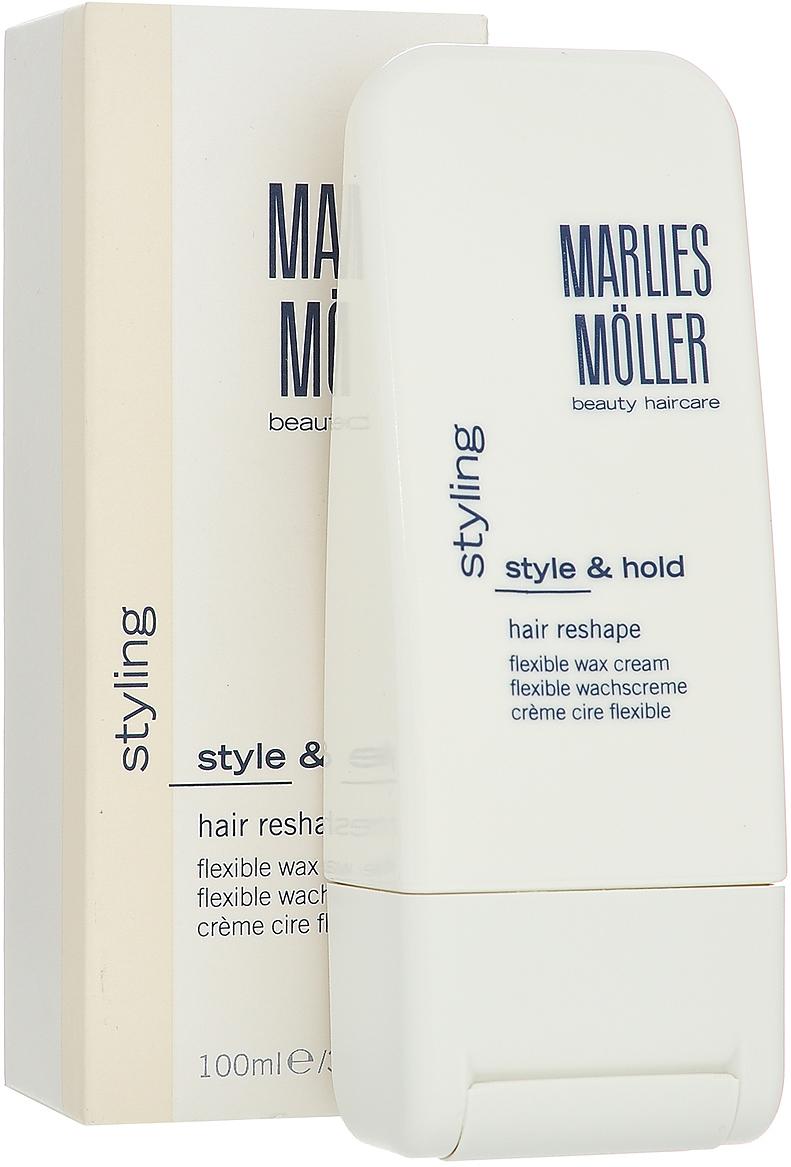 Marlies Moller Воск-крем Styling, для моделирования волос, 100 мл25681MMsВоск, который придаёт волосам надёжную фиксацию и структуру. Обеспечивает волосам мягкость, но при этом достаточную чёткость. Гарантирует идеальную гибкость при укладке и обновлении причёски. Остаётся невидимым на волосах, делая укладку естественной. Рекомендуется для креативных причесок, выделения прядей, сложной, мужской прически. Имеет особую консистенцию, не липкую и не маслянистую. Легко удаляется с волос. Незаменим для быстрой укладки фен + 10 пальцев, когда необходим двойной эффект блеска и фиксации. УФ-защита. Не содержит алкоголь. Для создания чёткого образа выдавите воск на ладони и сформируйте отдельные пряди на всей голове или просто вотрите в кончики волос. Для создания небрежного образа, расставьте модные акценты, нанеся немного воска на чёлку и вытянув несколько прядей по бокам. Воск справляется с неподатливыми вьющимися волосами. Нанесите средства на волосы и расчешите по направлению к затылку круглой щёткой Round Brush, затем руками придайте им волнистость.Возьмите небольшое количество средства. В зависимости от желаемого эффекта нанесите на сухие или подсушенные полотенцем волосы. Уложите как обычно.