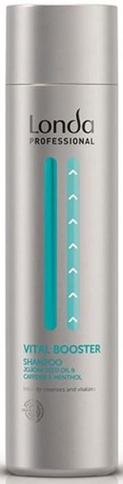 Londa Шампунь Vital Booster, укрепляющий, 250 мл0990-81524925Укрепляющий шампунь Vital Booster очищает и быстро освежает кожу головы, подготавливая ее для использования укрепляющей сыворотки Vital Booster. Используйте сыворотку для предотвращения выпадения волос. Содержит масло жожоба, кофеин и ментол. Характеристики:Объем: 250 мл. Артикул: 0990-81191558. Производитель: Германия. Товар сертифицирован.
