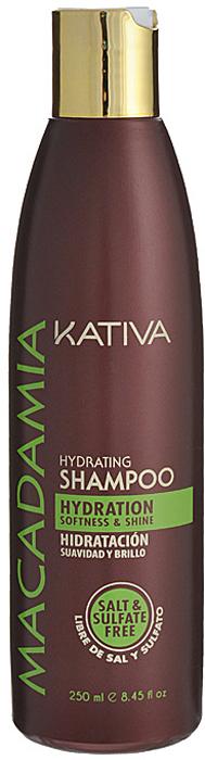 Kativa Интенсивно увлажняющий шампунь для нормальных и поврежденных волос MACADAMIA, 250мл