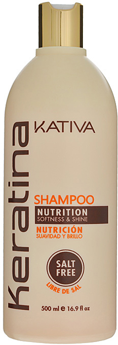 Kativa Укрепляющий шампунь с кератином для всех типов волоc KERATINA, 500 мл65808413Роскошный шампунь, богатый кератином, обеспечивает надежную защиту и восстановление окрашенных волос, а также волос, поврежденных механическими или температурными воздействиями. Защищает волосы, предотвращает их ломкость.Шампунь обогащен аргановым маслом и кератином. Увлажняет волосы, оставляет их блестящими и гладкими. Защищает волосы и предотвращает их сухость. Способствует выпрямлению. Укрепляет и восстанавливает волосы после химических воздействий. Не содержит сульфата. Способ применения: равномерно нанесите на влажные волосы, вспеньте и сделайте легкий массаж. Тщательно смойте. При необходимости повторите процедуру.
