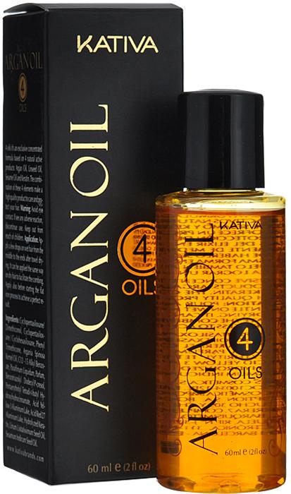 """Kativa Восстанавливающий защитный концентрат для волос """"4 масла"""" ARGAN OIL"""