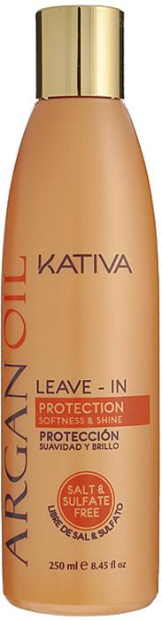 Kativa Несмываемый оживляющий концентрат для волос с маслом Арганы ARGAN OIL, 250мл kativa argan oil набор увлажняющий шампунь и кондиционер с маслом арганы 2х100 мл