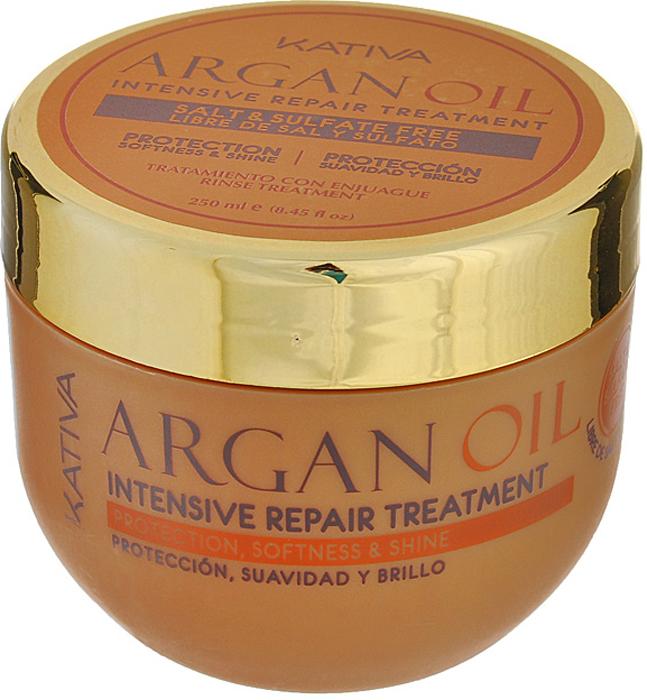 Kativa Интенсивно восстанавливающий увлажняющий уход с маслом Арганы ARGAN OIL kativa argan oil набор увлажняющий шампунь и кондиционер с маслом арганы 2х100 мл