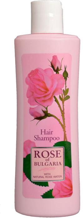 Rose of Bulgaria Шампунь для волос, 230 мл65744Мягкий и эффективный шампунь для всех типов волос. Содержит розовую воду с большим содержанием эфирного розового масла. Укрепляет волосы, придает им мягкость и эластичность. При регулярном применении шампуня волосы становятся блестящими и шелковистыми. Подходит для частого применения. Подарите настроение своим волосам! Натуральная розовая вода с большим содержанием эфирного розового масла является уникальным элементом в этом специально созданном шампуне. Нежный цветочный аромат непременно подарит Вам истинное удовольствие и наслаждение! Инновационная формула деликатно моет, мягко и нежно заботится о Ваших волосах. Они приобретают здоровый вид и блеск, становятся мягкими и эластичными. Шампунь содержит D-пантенол, который питает и увлажняет волосы, тем самым возвращает им естественный блеск и шелковистость, придает энергию и силу. Розовая вода тонизирует кожу головы, снимает воспалительные процессы и зуд, усиливает кровообращение в коже головы, стимулирует рост новых волос и укрепляет их корни. При постоянном использовании шампунь восстановит структуру проблемных волос и вернет им здоровье от корней до самых кончиков.