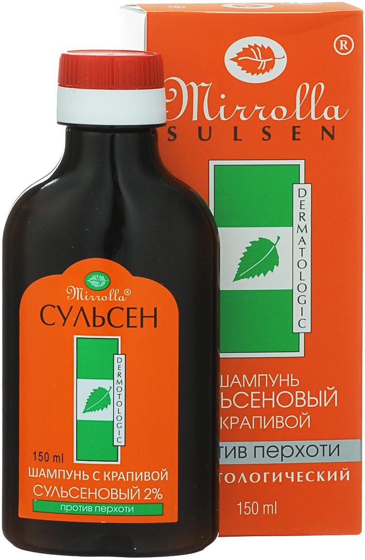 Мирролла Шампунь для волос «Сульсен Форте» с крапивой, против перхоти, 150 мл
