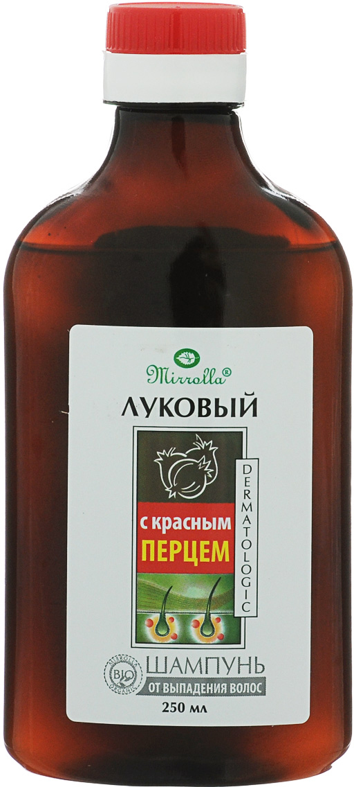 Мирролла Луковый шампунь для волос, с экстрактом красного перца, 250 мл средство для лечения волос и кожи головы