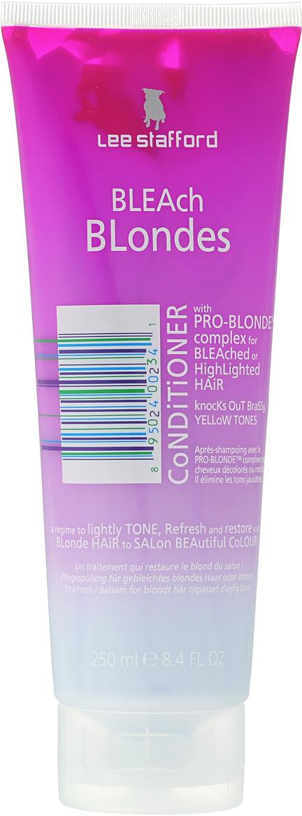 Lee Stafford Кондиционер для осветленных волос Bleach Blonde, 250 мл637727200215 Lee Stafford Bleach Blonde Conditioner Кондиционер для осветленных волос, 250 мл.Разработан специально для осветленных волос. Сохраняет цвет и придает волосам платиновый оттенок. Комплекс Pro-Blonde TM – содержит пантенол, экстракты ромашки и семян моринги, которые сохраняют естественный блеск. Содержит UF фильтры, защищающие волосы от воздействия окружающей среды. Нанесите кондиционер на вымытые волосы массирующими движениями, затем смойте через 3 минуты.