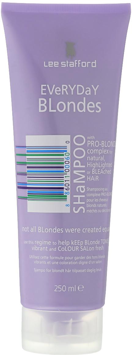 Lee Stafford Шампунь для осветленных волос для ежедневного применения Bleach Blonde, 250 мл лак для укладки волос lee stafford fat flexible hold hair spray 200 мл