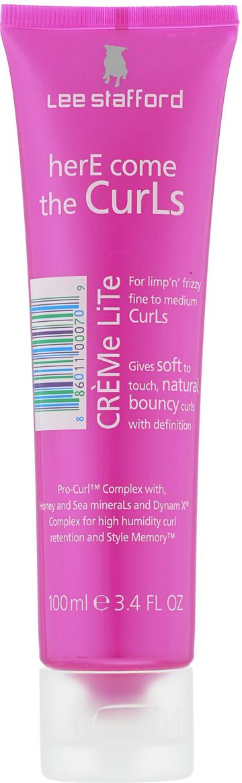 Lee Stafford Легкий крем для вьющихся волос Here Come The Curls, 100 мл768864200324 Lee Stafford HereComeTheCurlsCremeLiteлегкийкремдлявьющихсяволос, 100мл. Легкий крем для ухода за мелкими и средними кудрями, Pro-Curl ™ комплекс с пантенолом, мед и морские минералы проникают в волосы и делают их блестящими, шелковистыми и мягкими.