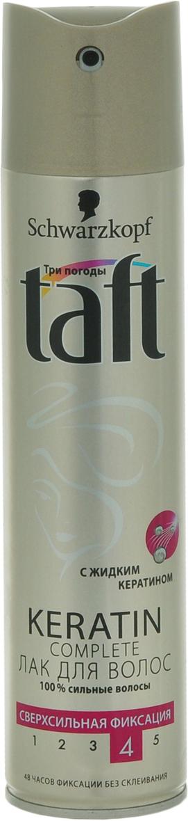 TAFT CLASSIC Лак Complete сверхсильной фиксации, 225 мл9063405100% УКРЕПЛЕНИЕ ВОЛОС С ЖИДКИМ КЕРАТИНОМ – СВЕРХСИЛЬНАЯ ФИКСАЦИЯ Формула Taft с жидким кератином, идентичным натуральному кератину волоса, придает волосам силу для длительной фиксации без склеивания! - 48 часов фиксации без склеивания, не оставляет следов. - Помогает защитить волосы от пересушивания, не утяжеляя их.